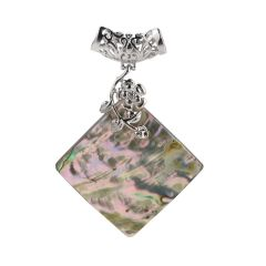 Natural Mother Of Pearl Pendant Square Shell Charms for DIY Necklace Jewelry Making