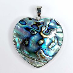 Natural Abalone Shell Heart-shaped Paua Seashell Pendant Jewelry Popular Gifts