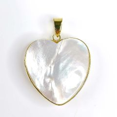 Mother of Pearl Heart Pendant Gifts for Women Girls Ocean Beach Jewelry Natural White Shell Pendant
