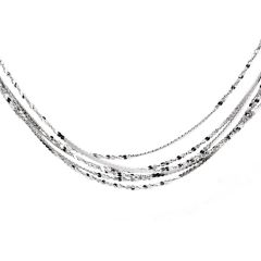 925 Sterling Silver Necklace Chain Thin Lightweight Strong Spring Ring Clasp 18 Inches and 1mm