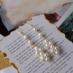 Statement Multiple Pearls Long Dangle Earrings Gorgeous Wedding Chandelier Earrings for Women