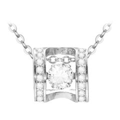 S925 Sterling Silver Lock Necklace Lock My Promise Cubic Zircon Plated Pendant Necklace Gifts
