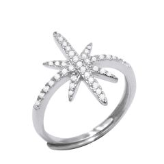 Unique Shiny 925 Sterling Silver Adjustable Ring Fine Jewelry for your lover best gift