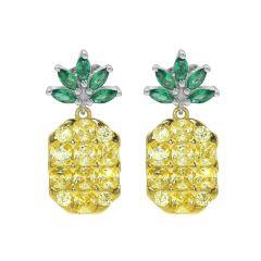 925 Sterling Silver Pineapple Earrings Fashion Simple Stud Earrings for Women