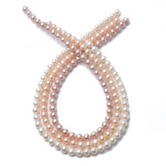 8-9mm Round Freshwater Cultured Pearl Loose Pearls Strand RFP23