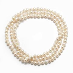Potato 8-9mm White Freshwater Cultured Pearls Necklace