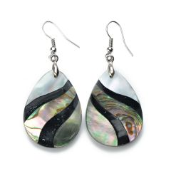 Unique Teardrop Abalone Shell Earrings Charming Ladies Jewelry