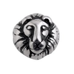 Stainless Steel Animal Lion Head Beads Charms Spacer Beads for Bracelet Jewelry Making