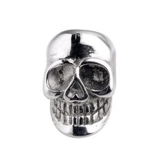 Stainless Steel Punk Style Skull Head Big Hole Beads Charms for Men String Bracelets Jewelry Making