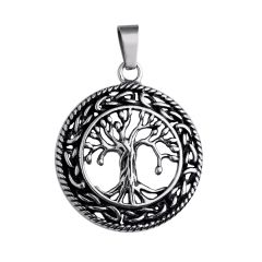 Men's Women's Celtic Tree of Life Fashion Style Stainless Steel Pendant without Chains