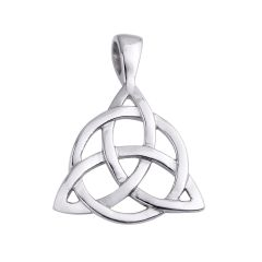 Vintage Stainless Steel Irish Triangle Celtic Knot Charm Amulet Pendant for Gifts