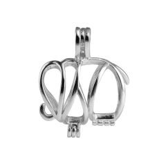 Elephant Cage 925 Sterling Silver Love Wish Pearl Pendant